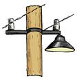 street lamppost vector image