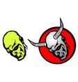 Demon heads vector image