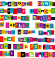 Music genres made of colorful letters vector image