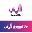 abstract music logotype Gradient blue and vector image