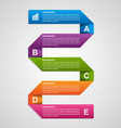 Paper sticker banners options infographic Design vector image