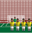 Colombia Soccer Club Penalty on a Stadium vector image