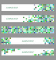 Colored square mosaic web banner template set vector image