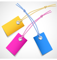 Colorful price tags vector image