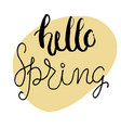 easter greeting card - hello spring vector image