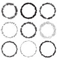 grunge rings big set vector image