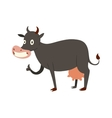 Milk cow cartoon character vector image