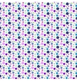 Purple dotted and circular seamless pattern vector image