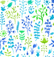 Seamless watercolor nature pattern vector image