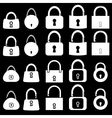 Set of Locks Silhouettes vector image