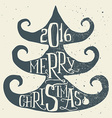 Spruce Christmas card Handmade Hand lettering vector image