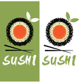 sushi design template vector image