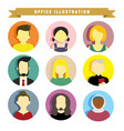 various people graphic vector image