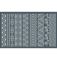 Vertical seamless lace borders vector image