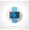 Water system round flat design icon vector image