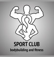 man and woman fitness logo vector image