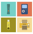 assembly flat icon game console flash drive vector image