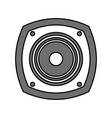 color silhouette image with loudspeaker vector image