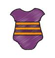 Baby clothes icon vector image