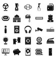 computer app icons set simple style vector image