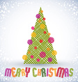 Christmas greeting card with special font and hand vector image