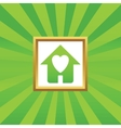 Beloved house picture icon vector image vector image