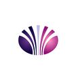 beauty abstract line unusual logo vector image vector image