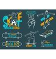 Set of Skateboarding Emblems Logo and Badges vector image