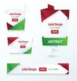 Label Ribbon Origami 2 color Christmas vector image vector image