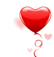 heart as air balloon with ribbon vector image vector image