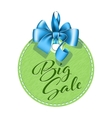 Green tag sale vector image vector image
