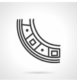 Bearing segment simple line icon vector image