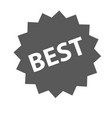 best sign icon simple vector image
