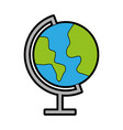 color world map cartoon vector image