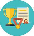 Rewards achievements awards concept Flat design vector image