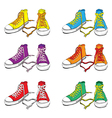 Sneakers set vector image
