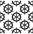 Vintage ships wheel seamless pattern vector image