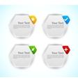 Design elements Hexagons vector image vector image