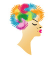 Beautiful lady with a lovely hairstyle vector image vector image