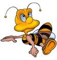 Clever Honey Bee vector image vector image