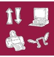 Web Icons Hand Draw vector image