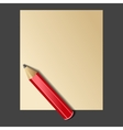 Paper and Red Pencil vector image