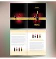 brochure folder wine red vine grape ornament vector image vector image