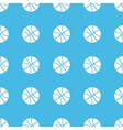 Basketball straight pattern vector image vector image