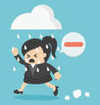 Business woman people negative thinking vector image