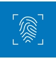 Fingerprint scanning line icon vector image