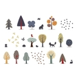 Forest trees set vector image vector image