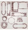 antique victorian baroque frames vector image