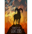 Chinese New Year 2015 Goat shape card vector image
