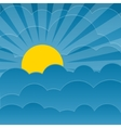 Clouds background with sun vector image